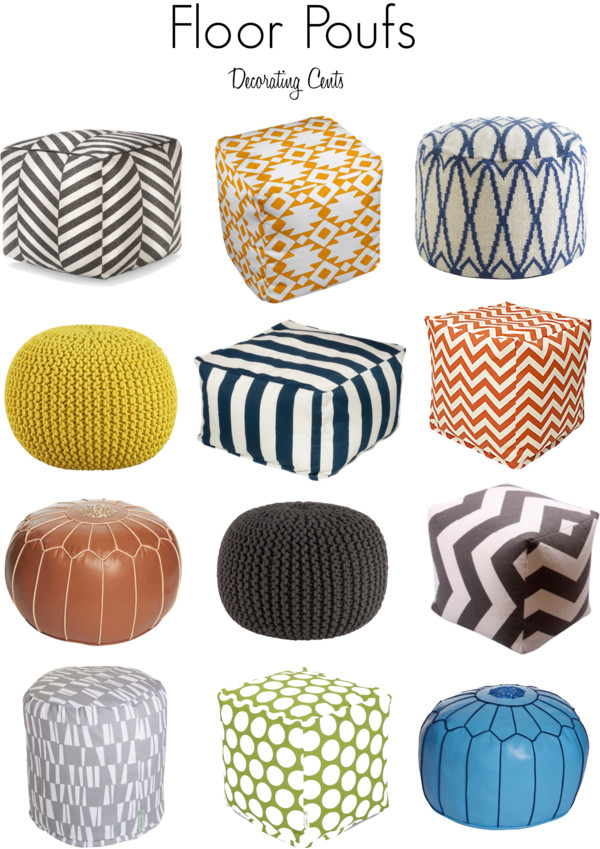 Decorating Cents: Floor Poufs
