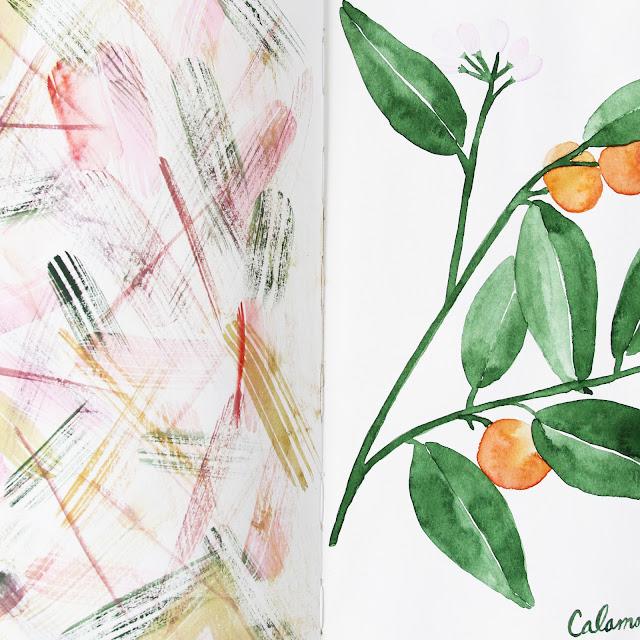 2x2 sketchbook, #2x2Sketchbook, sketchbooks, painting, watercolor, Dana Barbieri, Anne Butera