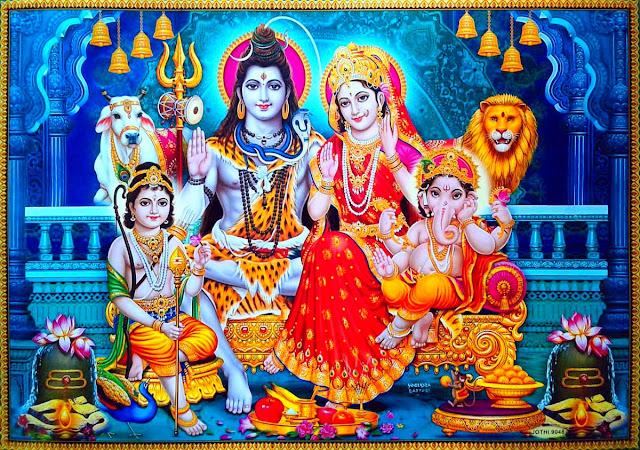 शिव परिवार , Shiv Parivar,shiv parivar  Mahima in Hindi, shiv parivar