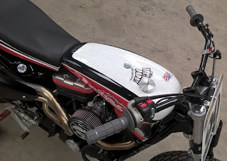hooligan tracker sportster flat track by bckustoms front on