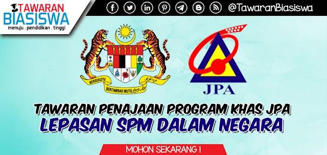 Biasiswa JPA - Program Khas Lepasan SPM Dalam Negara 2020
