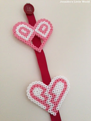 Hama bead hearts