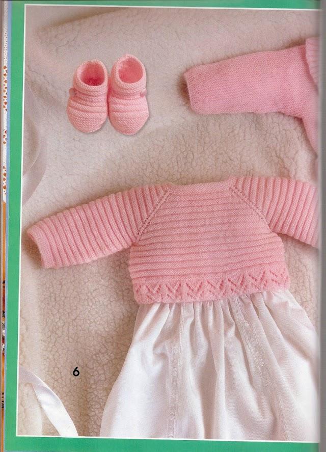 Sapatinho E Casaquinho  Receita Completa Em Tricô Para Bebês
