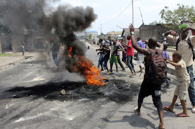 Congo protest in Kinshasa. PHOTO | FILE
