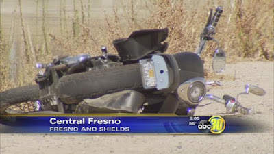 fresno motorcycle car accident shields avenue fresno street