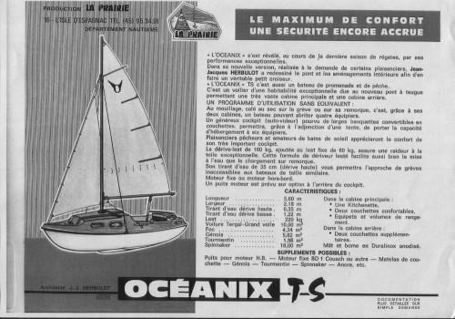 voilier oceanix version mono cabine et version ts bi. Black Bedroom Furniture Sets. Home Design Ideas