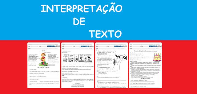 Interpretação de Texto - Exercícios para o 5º ano