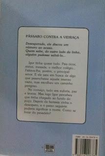 Pássaro contra a vidraça. Giselda Laporta Nicolelis. Editora Moderna. Coleção Veredas. Contracapa de Livro. 1992.