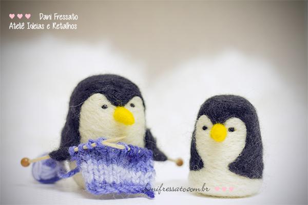 Pinguins Feltrados - Ideias e Retalhos por Dani Fressato