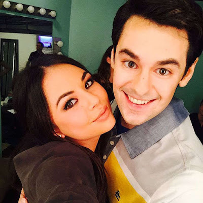 Janel Parrish and Brendan Robinson at The Unauthorized O.C. Musical
