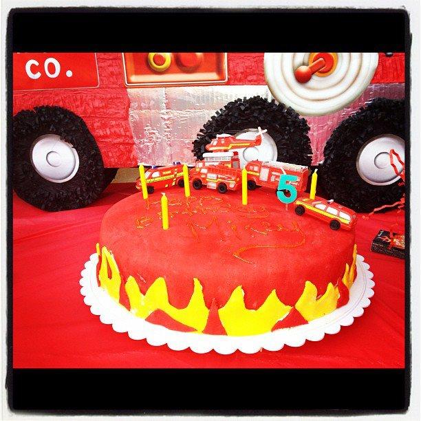 A Firetruck Cake For Fantastic Kid