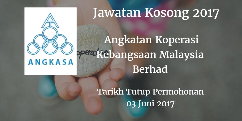 Jawatan Kosong ANGKASA 03 Juni 2017