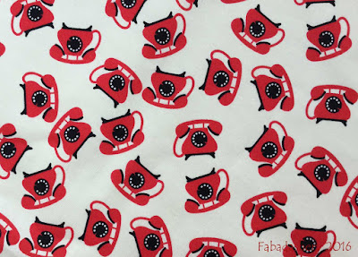 Red Telephone Fabric