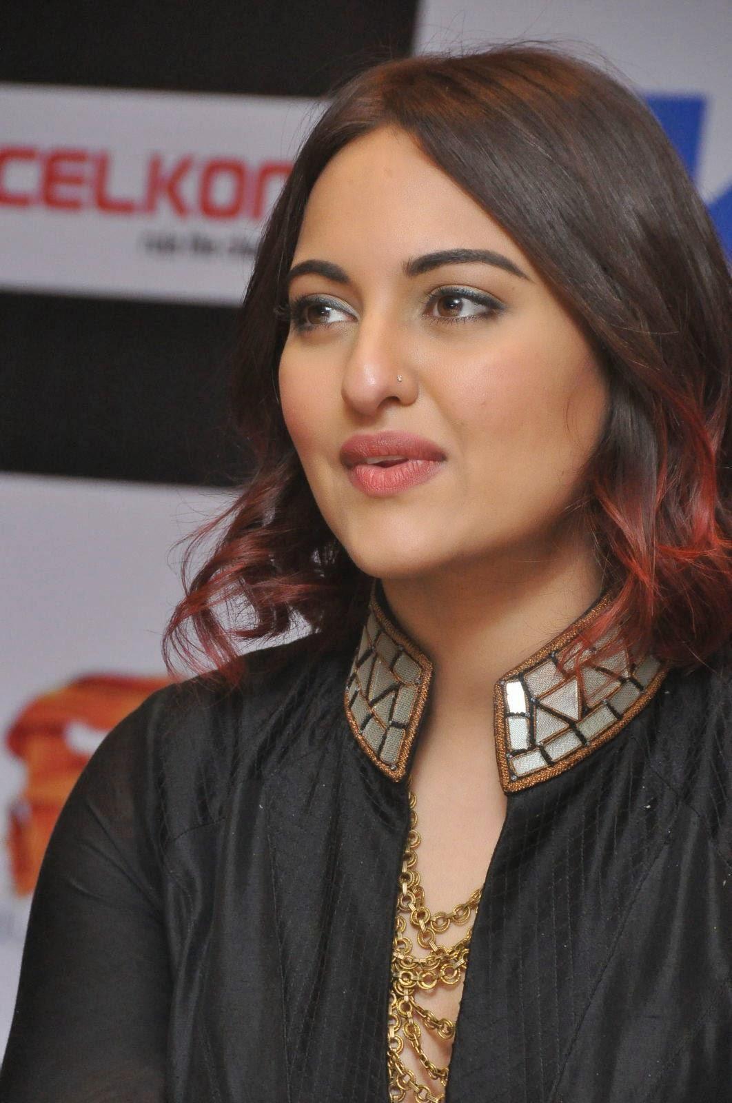 Sonakshi Sinha Latest Photos In Black Dress At Tevar Movie -6508