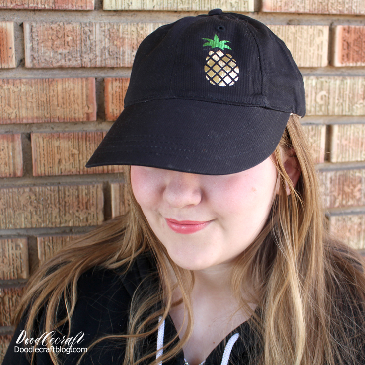 Pineapple Iron On Dad Hat DIY