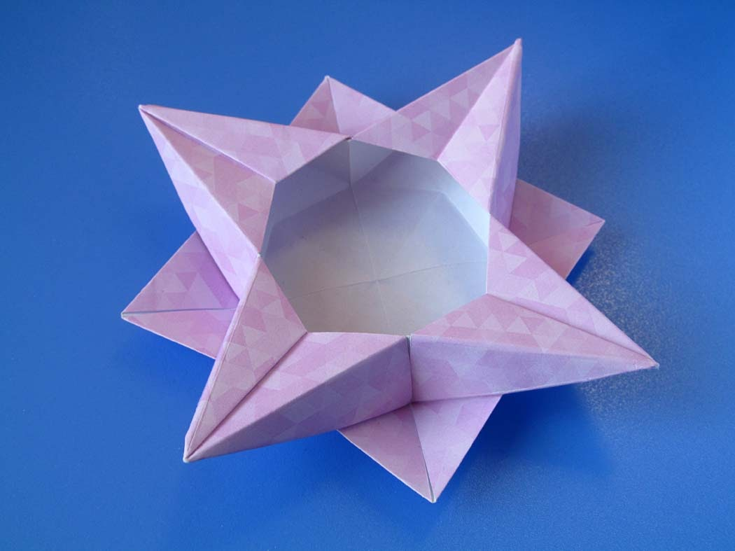 Origami Scatola a stella 4 - Star box 4 © by Francesco Guarnieri