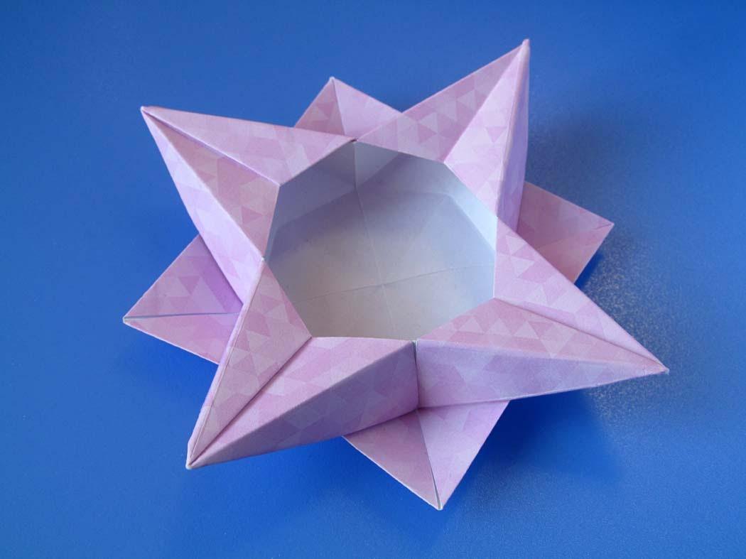 Origami Scatola a stella 4 - Star box 4 © by Francesco Guarnieri