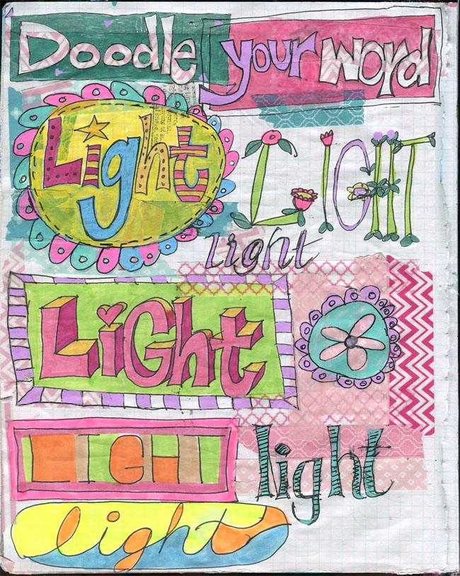 art journal ideas | art journal techniques | art journal pages | get inspiration http://schulmanart.blogspot.com/2016/03/word-doodles.html