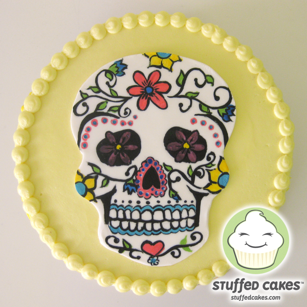 Stuffed Cakes Sugar Skull Cake