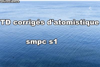 TD corrigés atomistique smpc s1 PDF