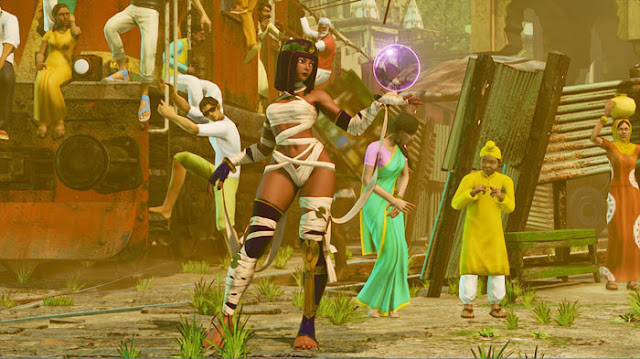 Street Fighter Menat in Battle Costume