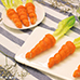 Easter faux carrot bunny Egg Salad Puffs