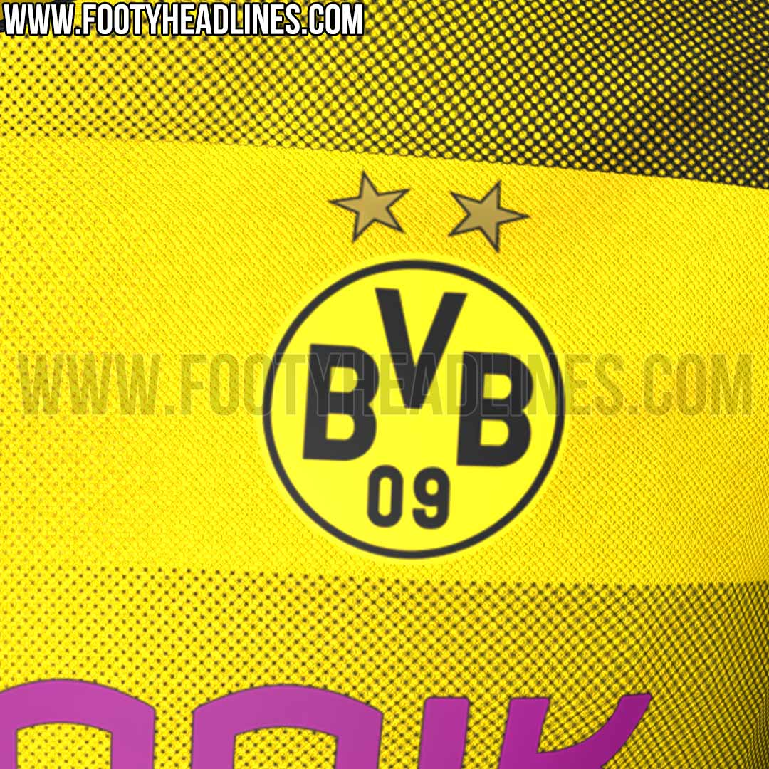 exclusive borussia dortmund 17 18 home kit leaked footy. Black Bedroom Furniture Sets. Home Design Ideas