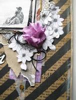 скрап,страничка,фото,любовь,акрил,краски,гессо,фонарь,надпись