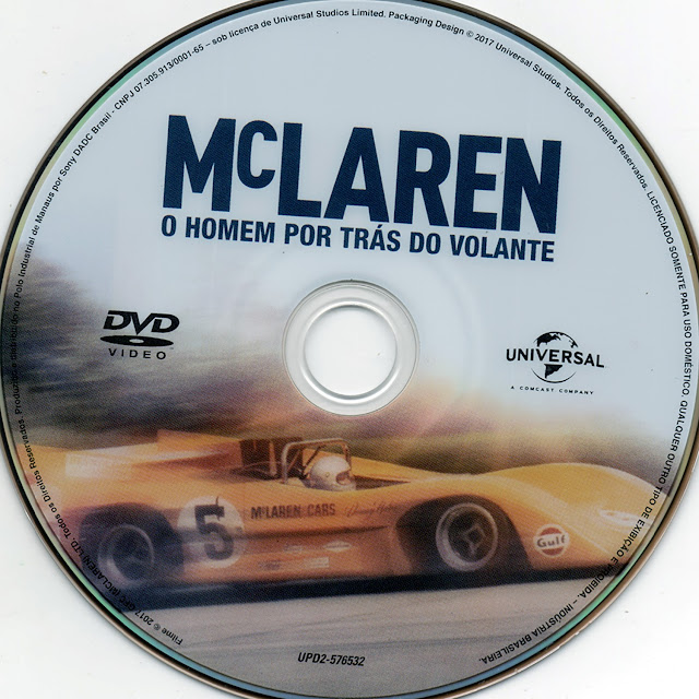 Label DVD McLaren O Homem Por Trás do Volante (Oficial)