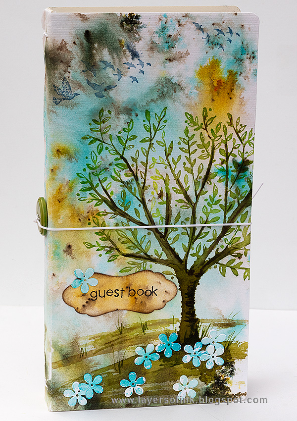 Layers of ink - DIY Guestbook Tutorial by Anna-Karin Evaldsson with Eileen Hull Sizzix Journal die
