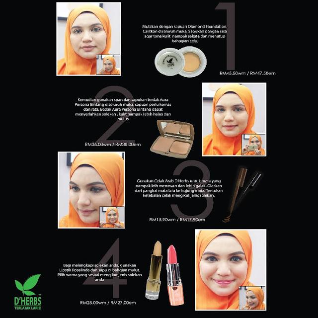 Cara Penggunaan Seleksi Set Makeup D'Herbs