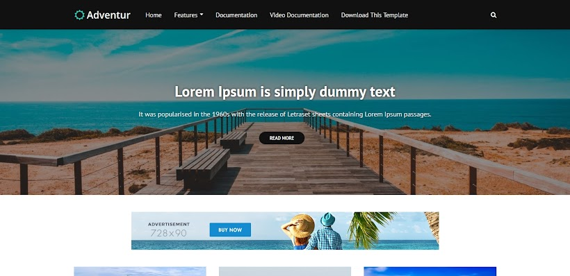 Adventur Free Blogger Template