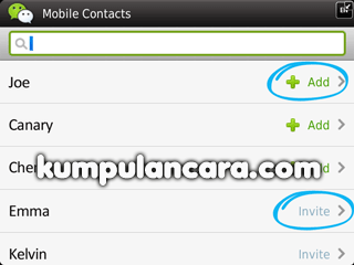 WeChat Cara tambah teman Mobile contacts