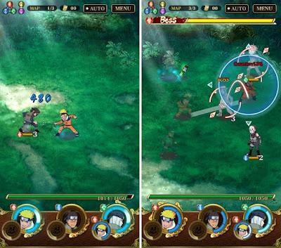 Tampilan Game Ultimate Ninja Blazing