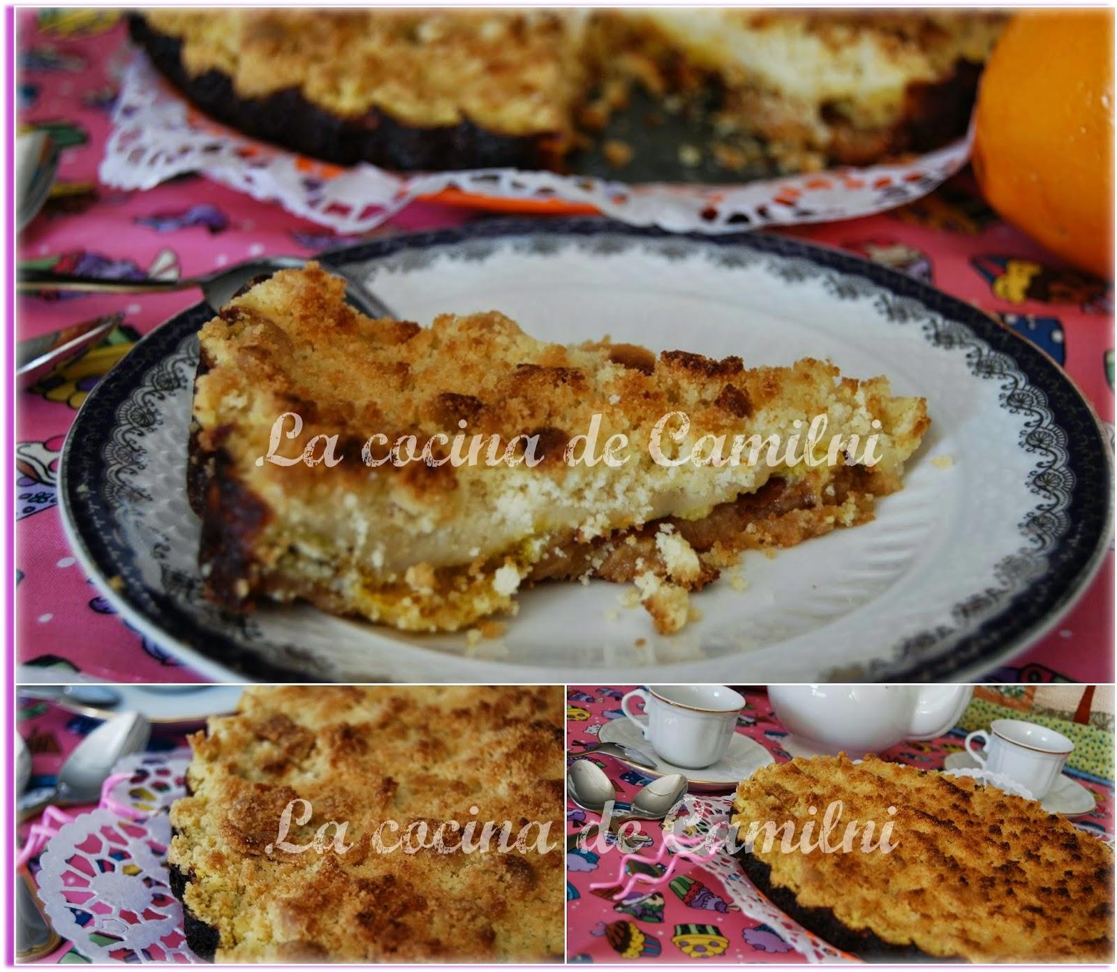 Streuselkuchen de naranja (La cocina de Camilni)