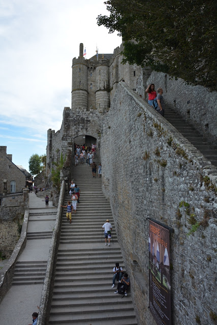 Abbey Mont Saint-Michel stairs