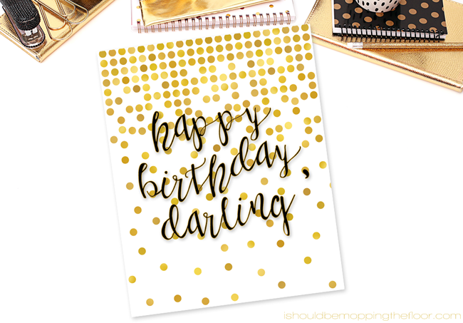 Happy Birthday Printable | Birthday Blog Hop Celebration