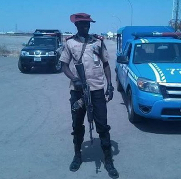 frsc official carrying gun