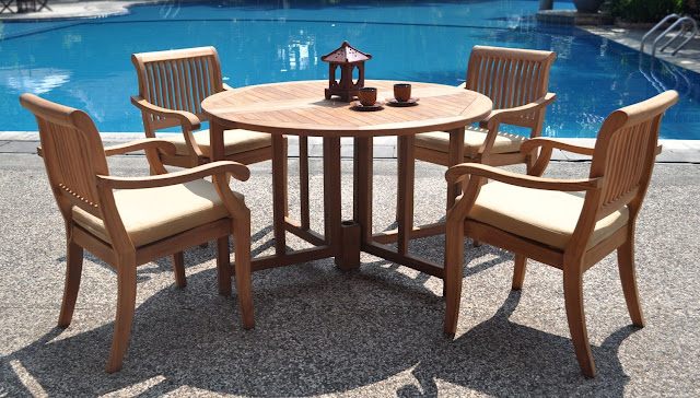 Round Kitchen Tables with Feng Shui touch Round Kitchen Tables with Feng Shui touch 5 piece luxurious grade a teak dining set 48 round table