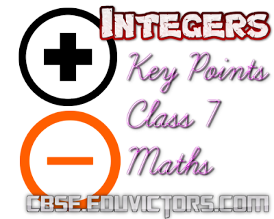 CBSE Class 8 - Mathematics - Chapter 1 - Integers (Key Points) (#cbsenotes)(#eduvictors)