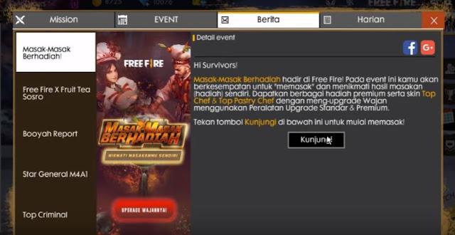 Event Masak di Free Fire
