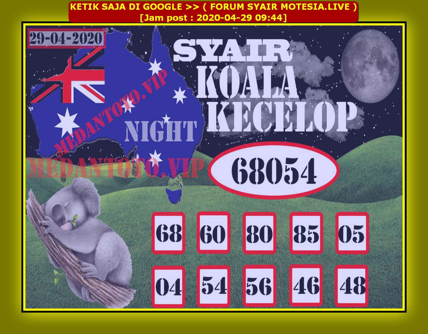 Kode syair Sydney Rabu 29 April 2020 52