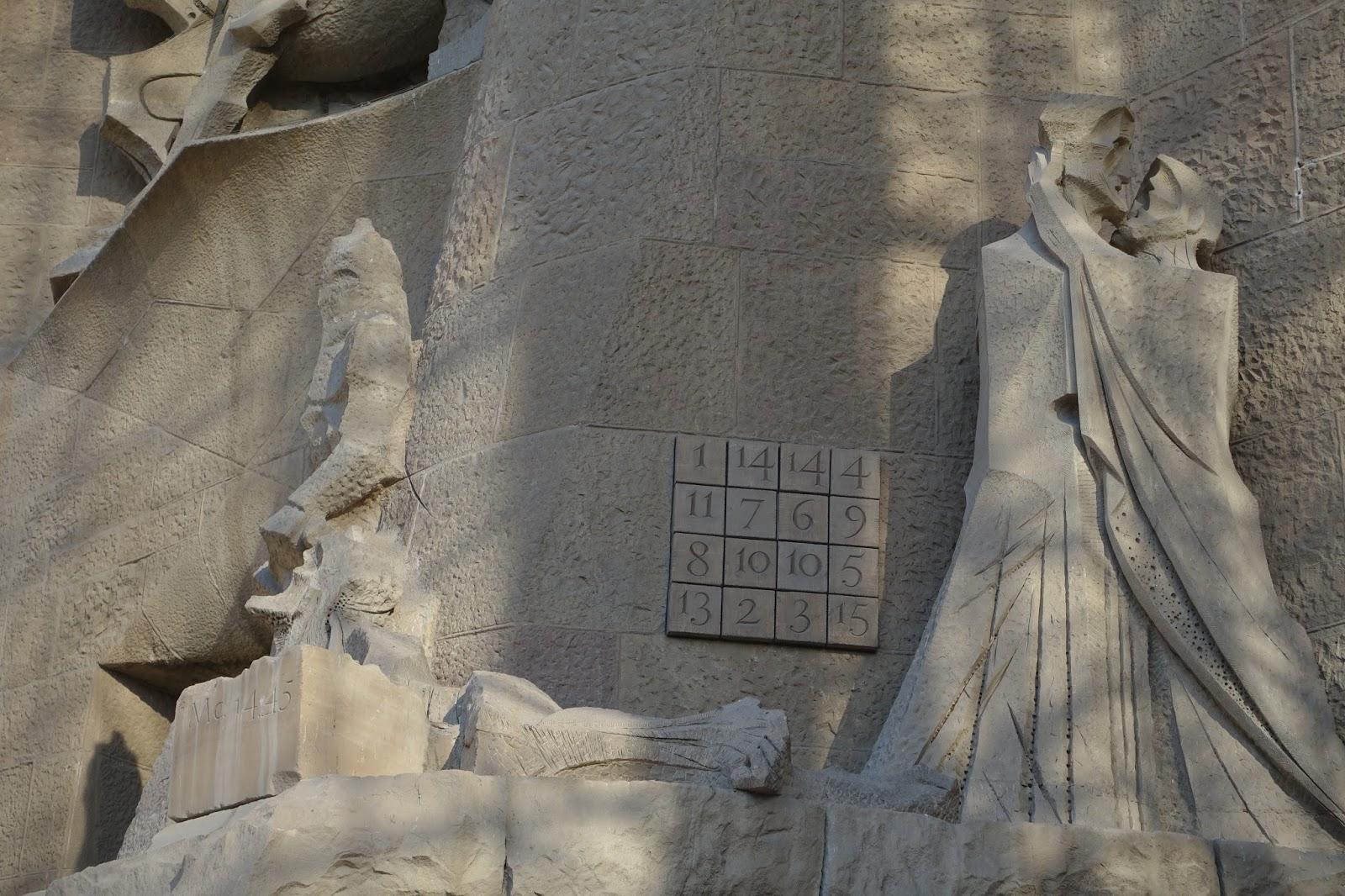 サグラダ・ファミリア (Sagrada Familia) 数字の羅列