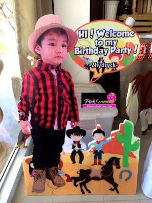 Safari themed Celebrant Standee