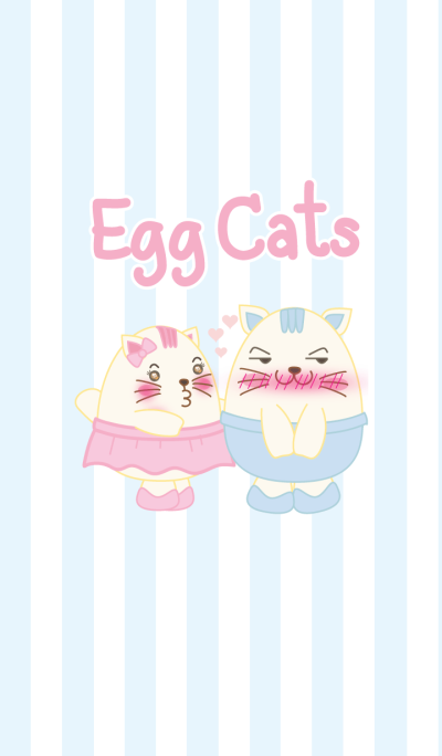 Egg Cats Pastel