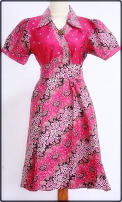 Koleksi Model Baju Atasan Batik Wanita Modern