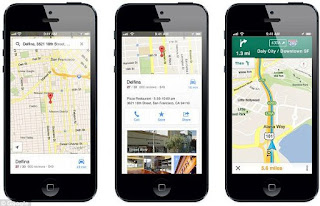 iPhone google my map app