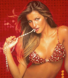 Image showing Gisele Bundchen in a jewel encrusted bra valued at more than $15m