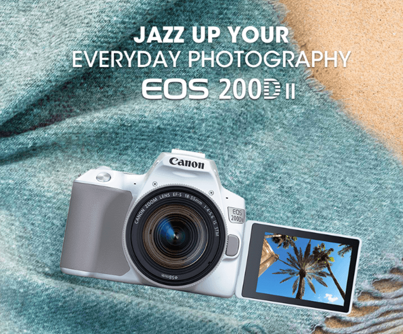 "Canon launches EOS 200D II dubbed as ""World's Lightest DSLR"""