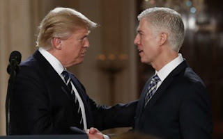 President Trump with Justy Gorsuch